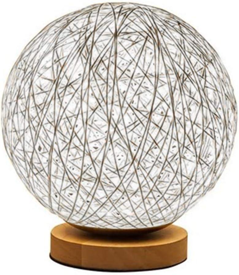 Loisir et Divertissement Trifycore LED 3D rotin Lune Minimaliste Lampe de Table Lampe de Table Lampe de Chevet Solide color/é Home D/écor rotin Ballon Rond Blanc Abat-Jour