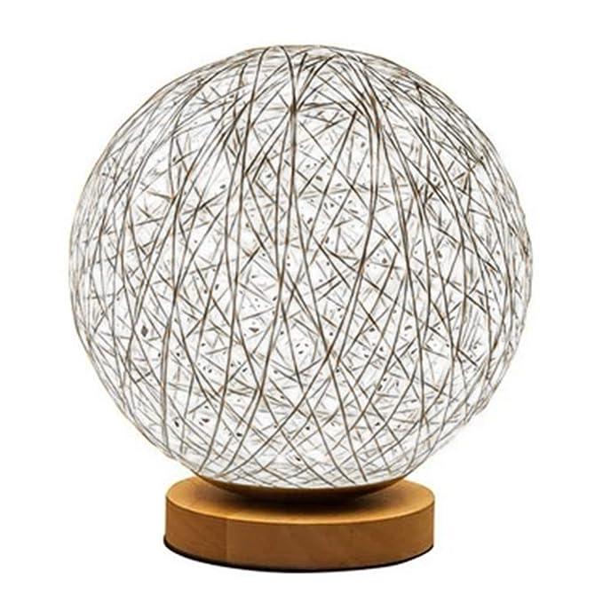 Newin Star 3D LED rota la luna de la lámpara minimalista sólida mesa Lámpara de cabecera Lámpara de escritorio colorida decoración del hogar ...
