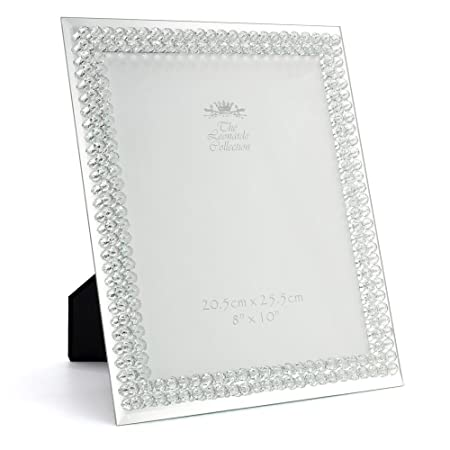Mirror and Diamante 8 inch x 10 inch Picture Photo Frame: Amazon.co ...