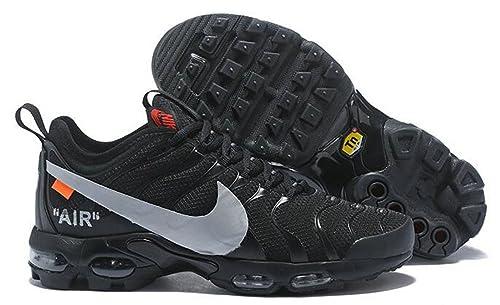 Off White X Air MAX Plus TN Ultra Black Grey AJ0877-100 Zapatillas de Running para Hombre Mujer: Amazon.es: Zapatos y complementos