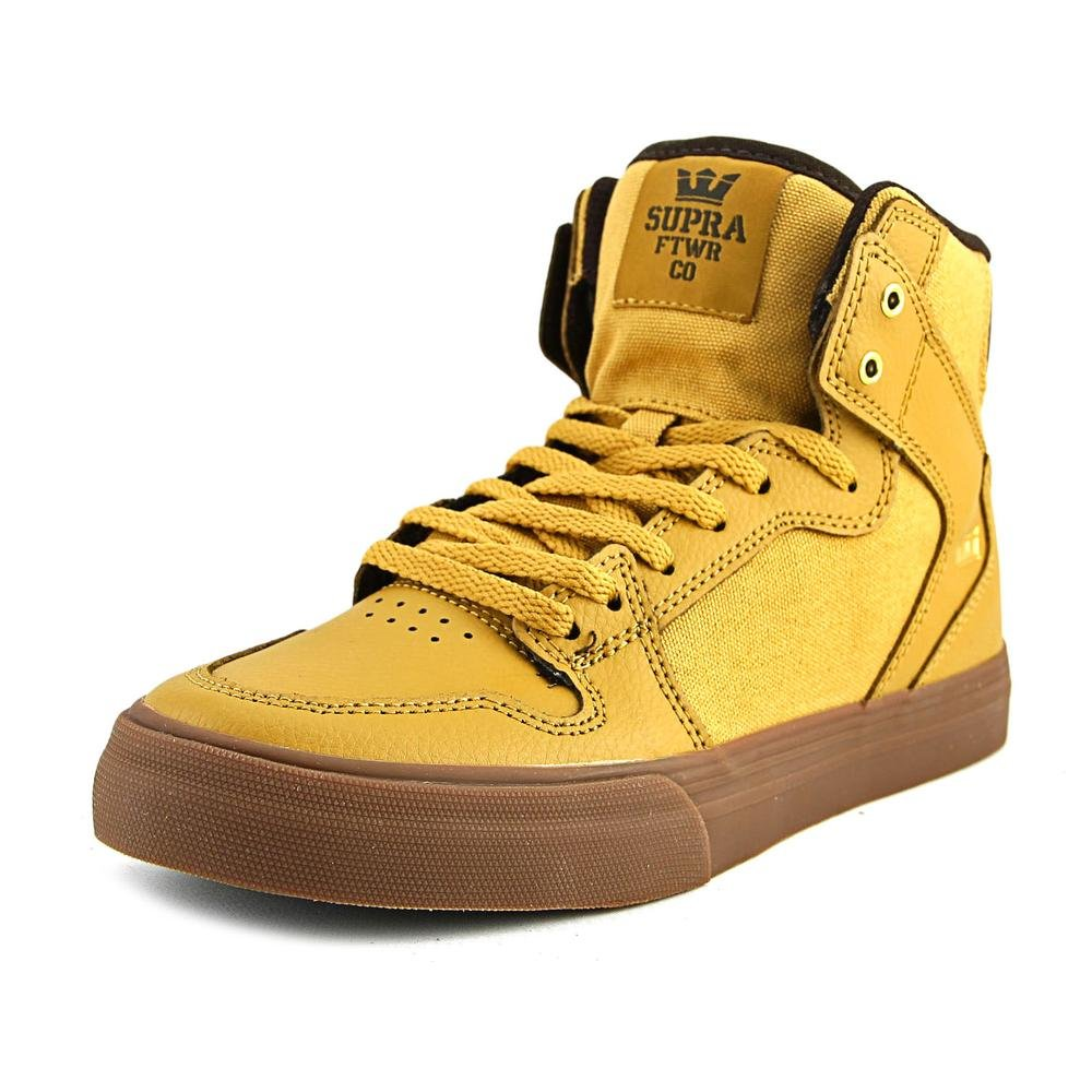 Supra Skytop S18091 - Zapatillas de ante para hombre 4.5 Big Kid M|Amber Gold Leather/Gum