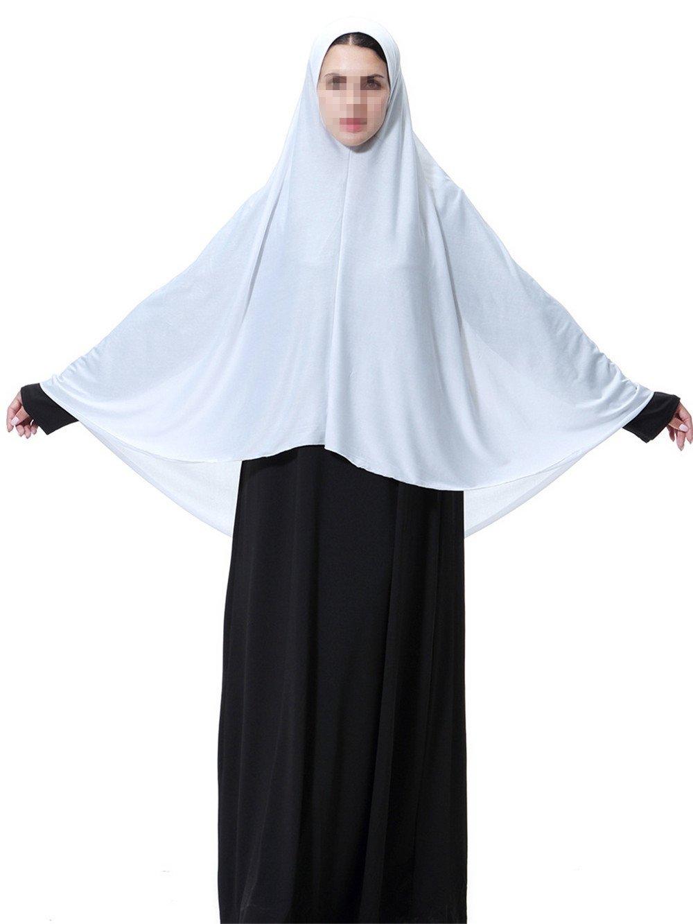 Swallowuk Hijab Maxi Schal Lange Kopftuch Damen Muslimische Schals Arabien Islamische Gebet Kleid Abdeckung Kleidung