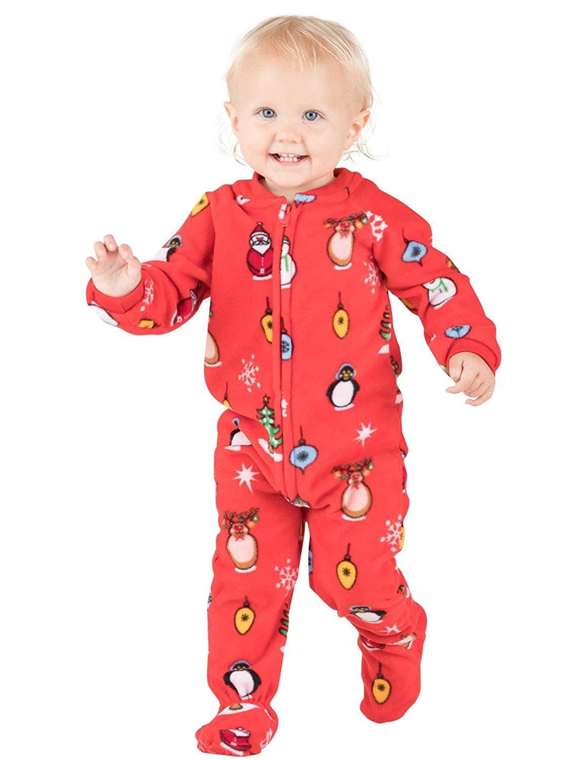 Amazon.com  Footed Pajamas - Holly Jolly Christmas Infant Fleece Onesie -  Extra Large  Clothing 5070c7bfb