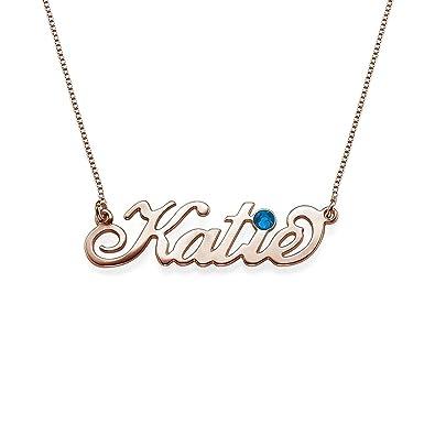 ef071b9b6b1a6 Amazon.com: Custom Name Pendant Necklace Personalized Necklace 925 ...