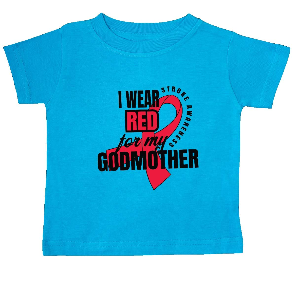 inktastic I Wear Red for My Godmother Stroke Awareness Baby T-Shirt