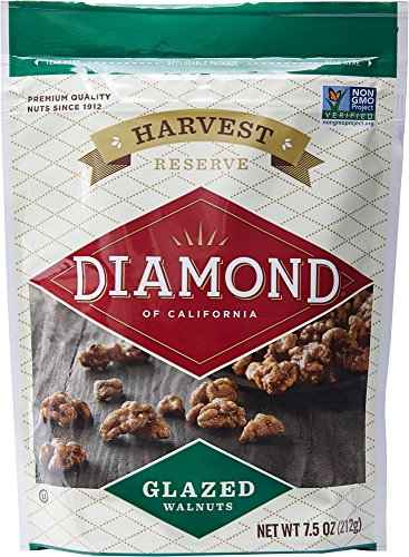 Diamond of California, Glazed Walnuts, 7.5 Ounce (Pack of 6)