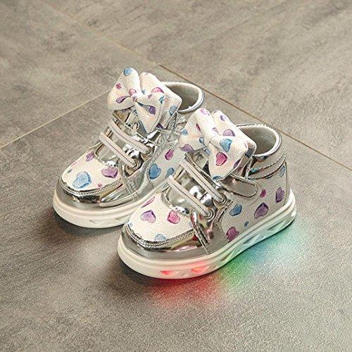 wuayi Mädchen Baby-Schuhe Silber