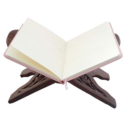 Amazoncom Wooden Holy Book Stand Gita Quran Bible Holder