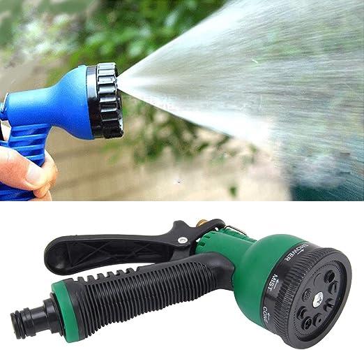 Herramientas de jardinería Pistola de agua para jardín Pistola de pulverización multifuncional Pistola de pulverización para jardinería Pistolas de riego 8 Función: Amazon.es: Jardín