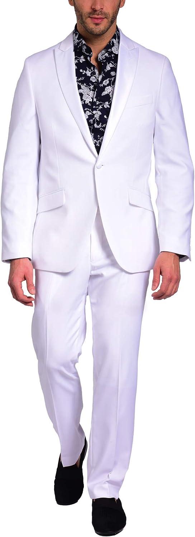 Craft & Soul Men's Slim Fit Satin Peak Lapel Tuxedo Separate Jacket Formal Coat