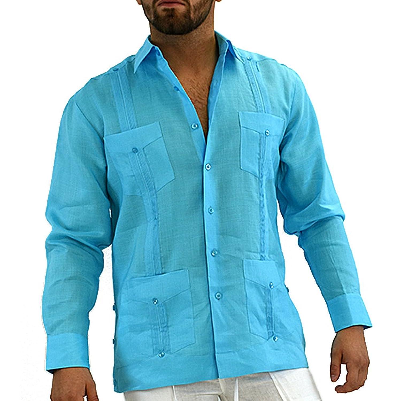 Mens mexican wedding shirt, linen guayabera shirt at Amazon Men\'s ...