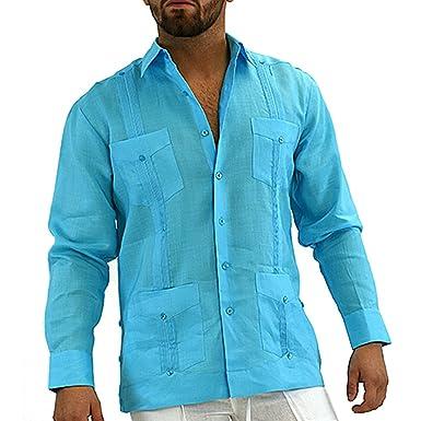 Mexican Wedding Shirt.Mens Mexican Wedding Shirt Linen Guayabera Shirt At Amazon Men S