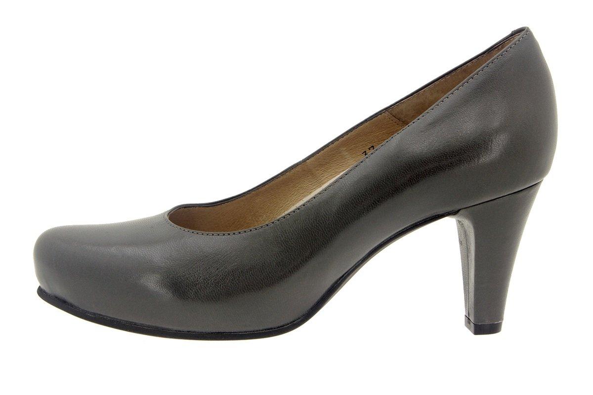 PieSanto Women's 5225 Grey Leather Comfort Dress Pump Extra Wide 35 W EU (4.5 - 5 C/D US Women)