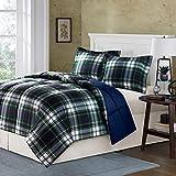 Alternative Comforter - Comfort Classics Parkston Down Alternative Comforter Mini Set, Navy, King/California King