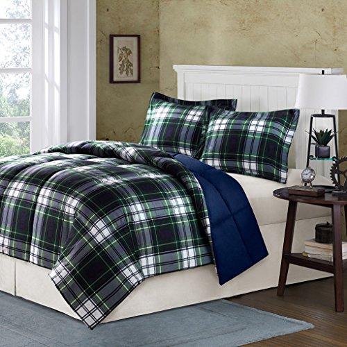 Madison Park Essentials Parkston Down Alternative Comforter Mini Set, King/ California King, (California King Plaid Comforter)