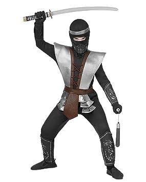 Horror-Shop Maestro Ninja Disfraz De Niño S / 128: Amazon.es ...