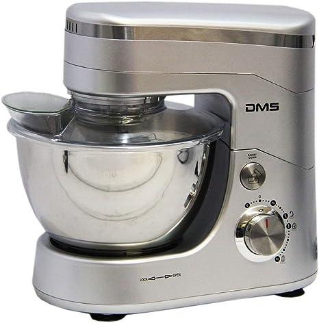 Robot de cocina amasadora eléctrica amasadora de masa para amasar Plata 5L, 1400 W Max. DMS®: Amazon.es: Hogar