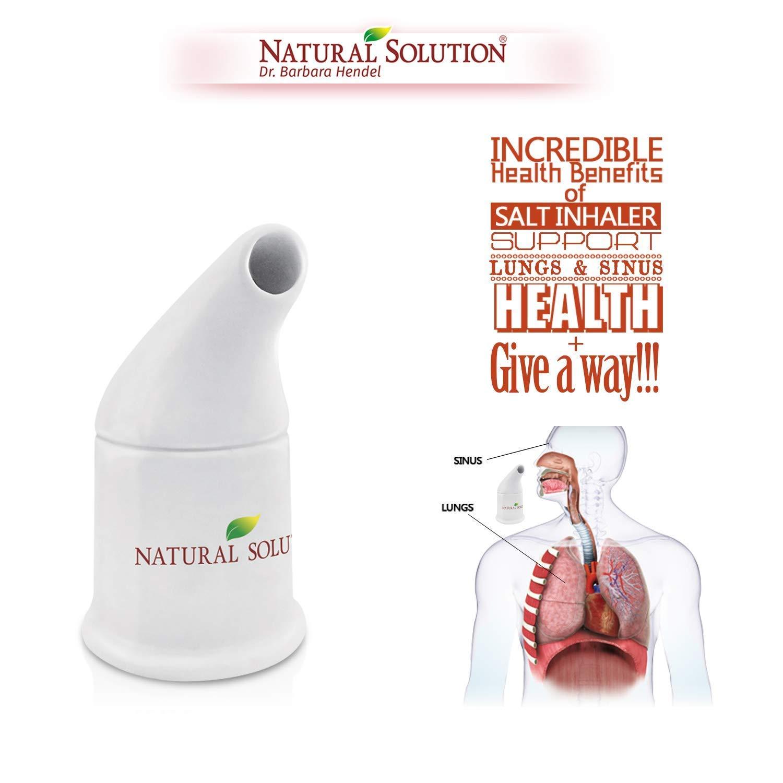 Natural Solution Pink Himalayan Salt Inhaler w/Pink Himalayan Crystal Salt 5061