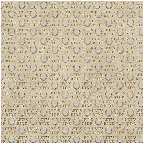 Karen Foster Design Scrapbooking Paper, 25 Sheets, Let's Ride, 12 x 12