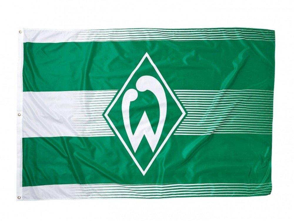 Werder Bremen Unisex– Erwachsene 17573 Fanartikel-Hissfahne klein-180 x 120 cm-Flagge/Fahne, M