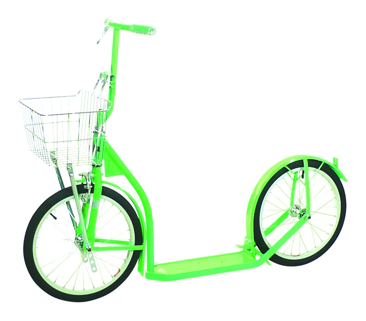 """Groffdale Scooters Amish Made Kids Deluxe Kick Scooter, 16"""" Wheels (Neon Green)"""