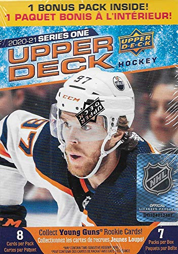 2020 2021 Upper Deck Hockey Series One Factory Sealed Unopened Blaster Box of Packs Possible Young Guns Rookies and Jerseys
