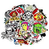 Nuoxinus Motorcycle Car Bumper Stickers Decals Vinyls (Pack of 100) Random Styles Mix Lot Fashion Cool Unique Graffiti for Bike Bicycle laptops Skateboard Snowboarding Helmet Travel Suitcase Luggage