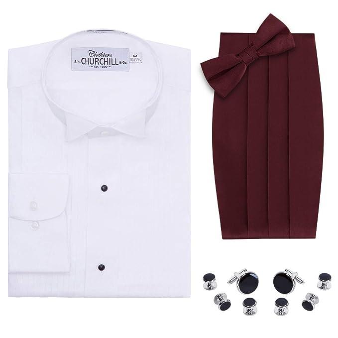 Amazon.com: Camisa de esmoquin para hombre, diseño de alas ...
