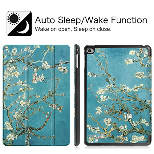 Fintie iPad mini 4 Case - Ultra Slim Lightweight Stand Smart Cover with Auto Sleep/Wake Feature for Apple iPad mini 4 (2015 Release), Blossom Photo #9