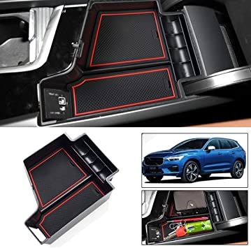 Salusy Car Center Console Armrest Box Glove Box Secondary Storage Tray Compatible with BMW X1 2016 2017 2018