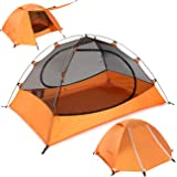 Clostnature Lightweight 2 and 3 Person Backpacking Tent - 3 Season Ultralight Waterproof Camping Tent, Large Size Easy Setup
