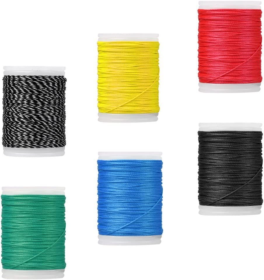yotijar 6 Pieces 110M 0.4mm Archery Bow String Serving Material Bowstring