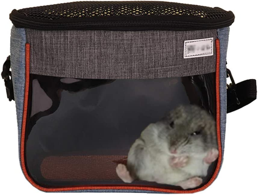 Small Animal Guinea Pig Hamster Squirrel Hedgehog Chinchilla Sugar Glider Ferret Parrot Rat Mouse Carrier Bag Travel Pets Pouch Purse Outgoing Outdoor Portable with Shoulder Strap (S, Light Blue)