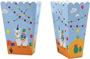 24 Piece Popcorn Box Snack Box for Kids Children Alpaca Llama Birthday Party, Cake Treat Gift Box Candy Cookie Containers Goodie Bag, Baby Shower Party Decoration Favors Supplies