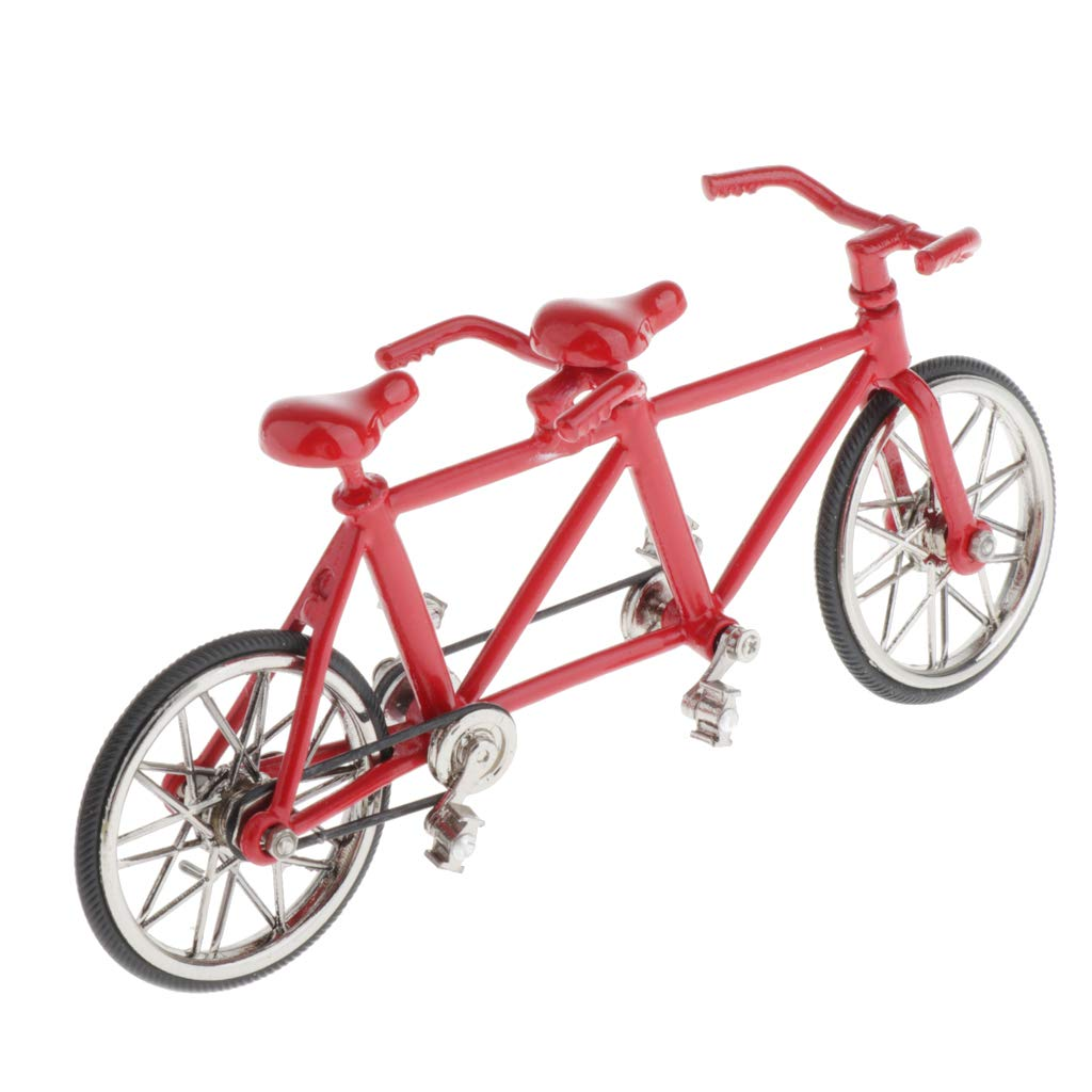 Injoyo 1//16 Finger Bike Figurines Bike Miniature Office Workplace Home Decoration Tool Performance Alloy Metal Toy Creative Game Gifts Full Red