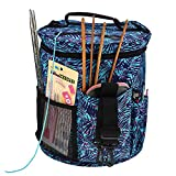Knitting Bag, Yarn Storage Tote, Portable, Light and Easy to Carry.Slits On Top to Protect Wool and Prevent Tangling.Portable Project Holder for Exceptional Organization