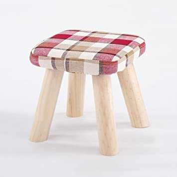 Amazon.com: LIZHIQIANG Small Stool Solid Wood Coffee Table ...
