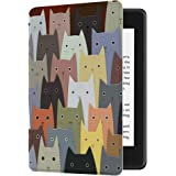 Huasiru Painting Case for All-New Kindle Paperwhite (10th Generation-2018 Only - Will Not fit Prior Generation Kindle Devices), Cats