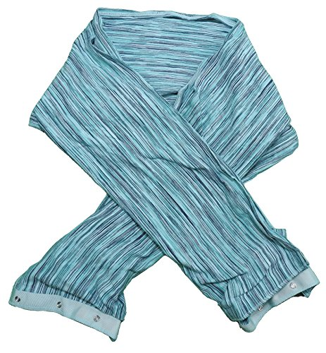 Champion Women's Lightweight Snap Scarf, Teal/Multi, One Size