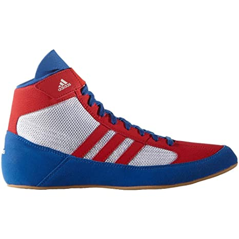 adidas Havoc Kids Scarpe da Wrestling Junior, Bambino, White/Red