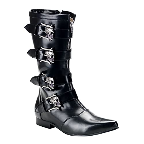 Demonia Brogue 107 Gothic Punk Industrial Pikes Stiefel Schuhe 40 46