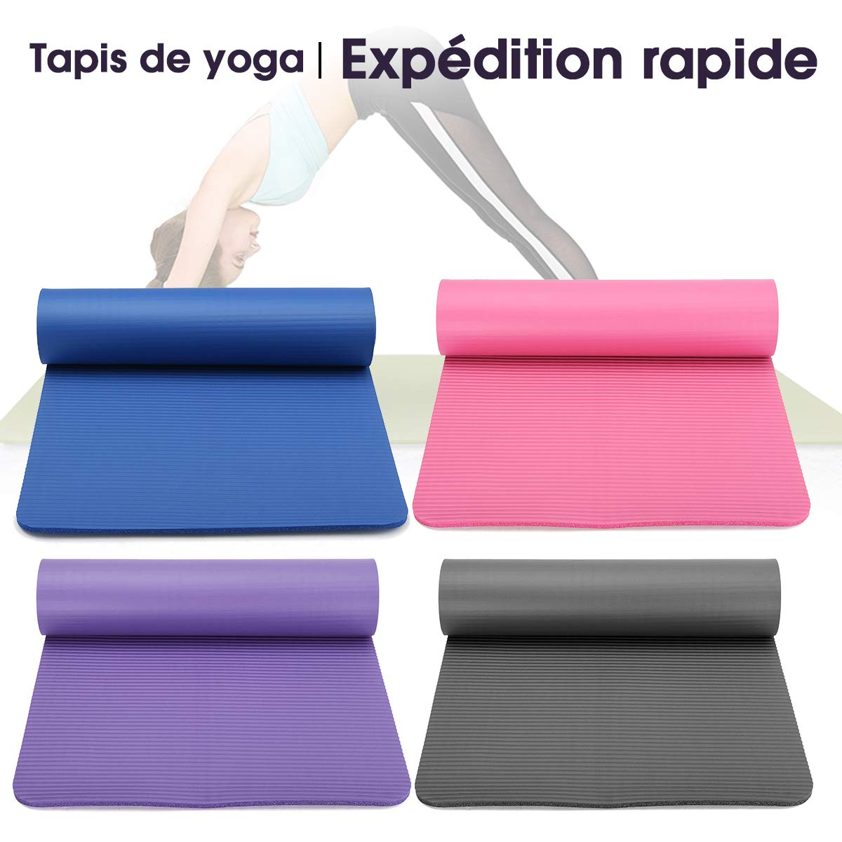 Amazon.com : KingSo Non Slip Yoga Mat Exercise Fitness ...