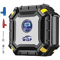 WLZP Digital Tyre Inflator Air Pump with LED Lamp Digital Pressure Gauge, 12V 100PSI Portable Tire Pump Electric Air Compressor Pump for Car SUV Motor Bike