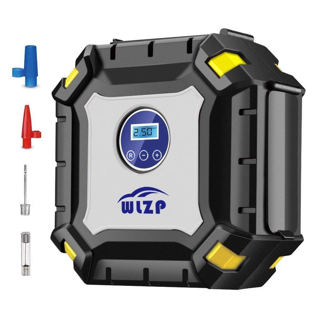 WLZP Inflador de neumáticos Digital con luz led indicadora de presión, de 12V 60 PSI, un inflador compresor de Aire eléctrico portátil para Coche ...