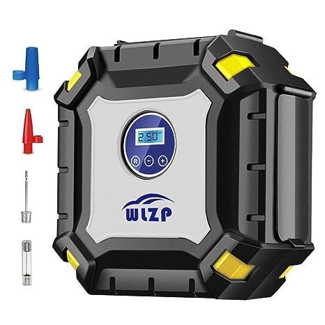 WLZP Inflador de neumáticos Digital con luz led indicadora de presión, de 12V 60 PSI