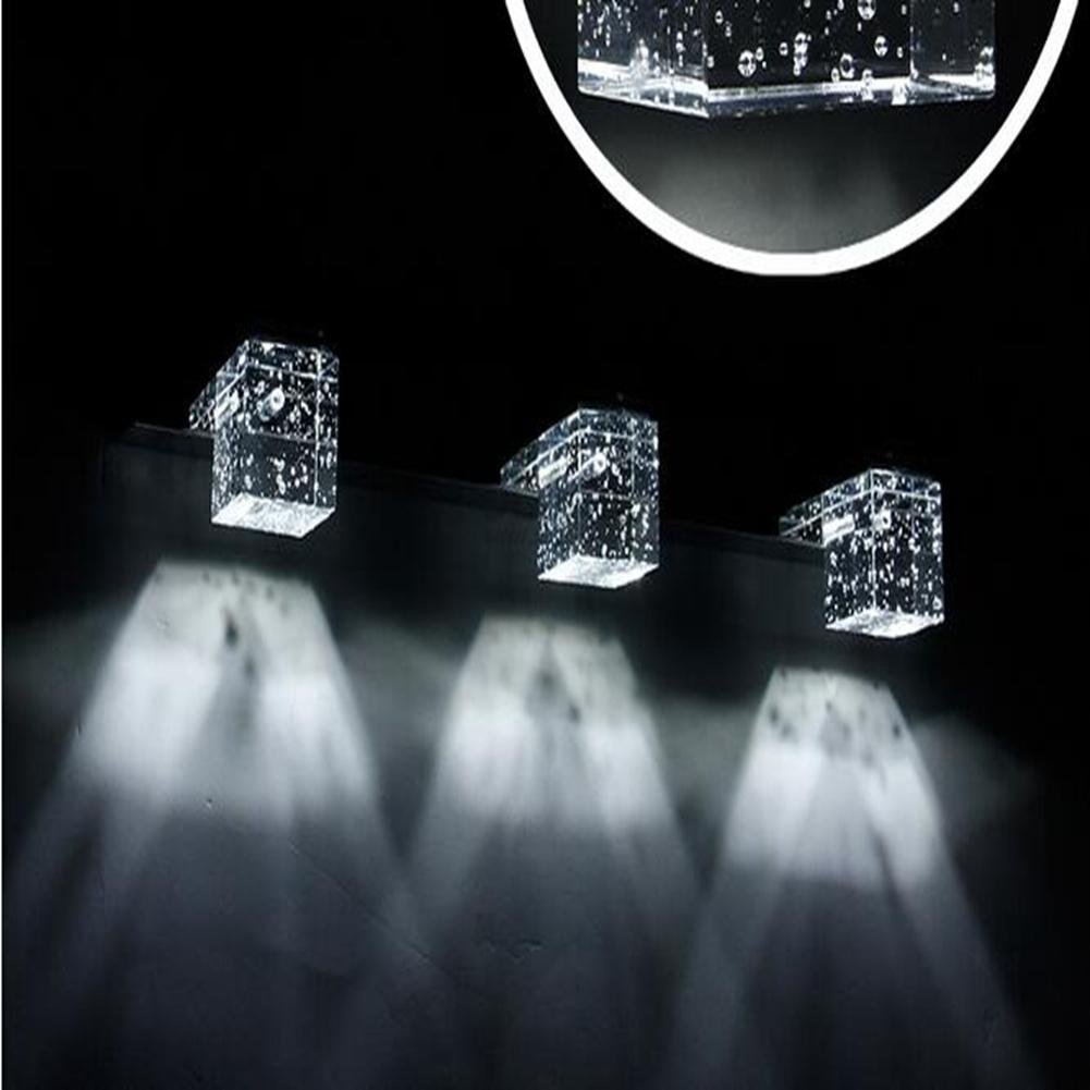 JIN Crystal Light High Power LED Mirror Light Modern Simple Bathroom Light Bedroom Bathroom Light , White Light , 4 Heads