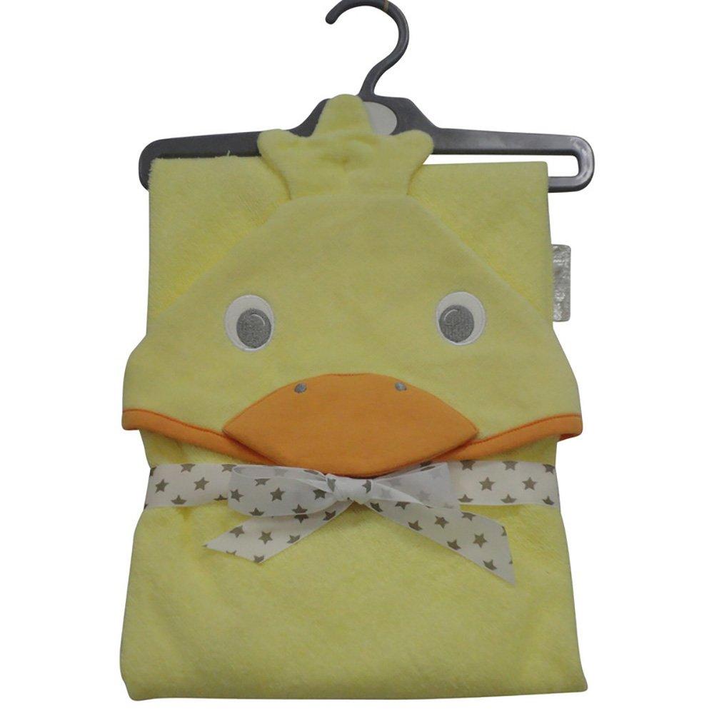 Baby Hooded Towel Orange Duck unisex design Super Soft gift Hoolaroo