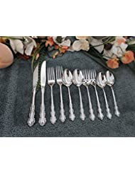 SHELLEY Oneida Vintage 18 10 Heirloom Cube Mark Stainless 10pcs 2 Place Settings Excellent