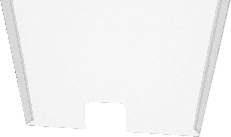 100x100cm Estancos Supermecados Mampara de Protecci/ón de 4mm Farmacias Pantalla de protecci/ón para Bancos Notarias Varias Medidas Disponibles Cl/ínicas y Dentistas