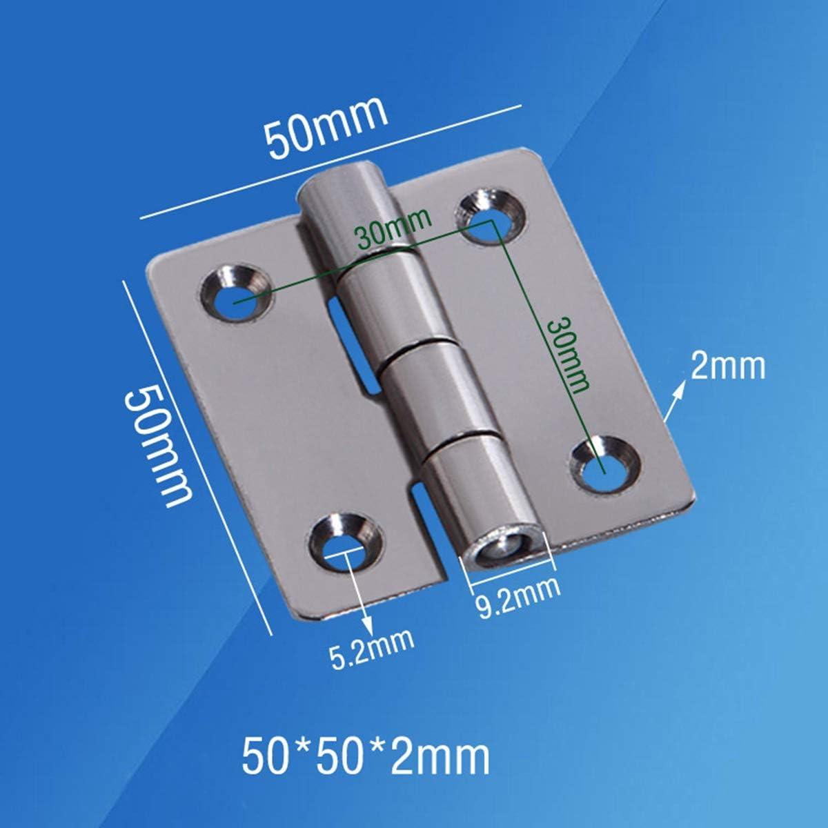 50 x 50 mm en acier inoxydable /Équipement industriel Cabinet Hinge Charni/ère 40mm 10pcs 40 /× 40 mm